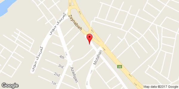 موقعیت رنگ و ابزار اکبر فرخی روی نقشه