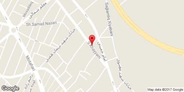 موقعیت آرایشگاه شاپور روی نقشه